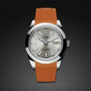 Rolex datejust with replacement orange strap