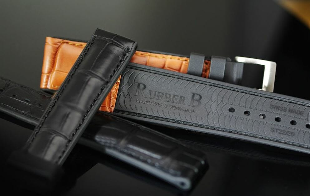 Replacement Black Leather Watch Band