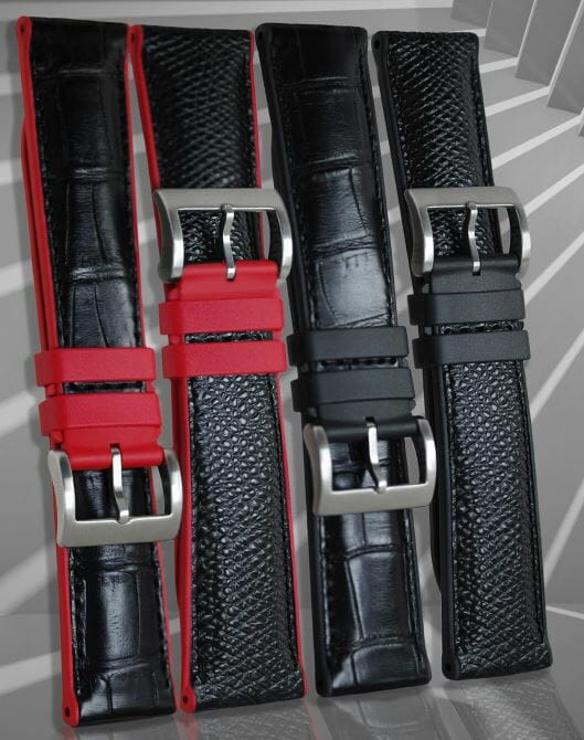 Red bracelets with Alligator Leather