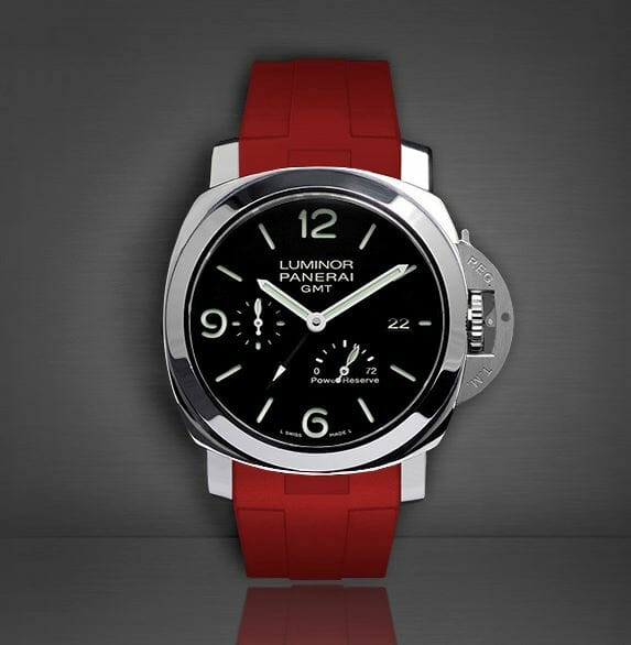 Red watchband for the Panerai Luminor 1950 44mm