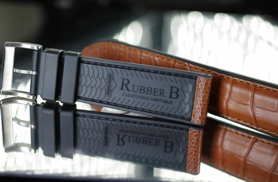 Rubber B Leather Watch Bands