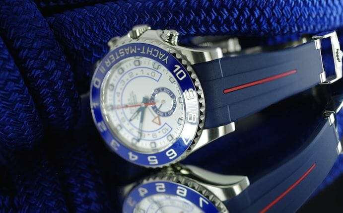 Yachtmaster 2 with blue and red band