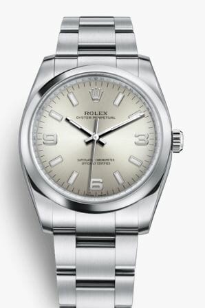 Silver Dial Rolex Oyster Perpetual Ref 114200