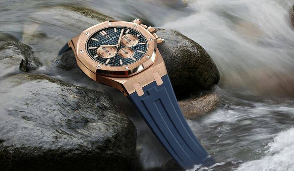 Blue Rubber B Strap for Audemars Piguet Royal Oak 41 Sport