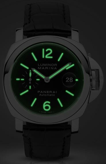Panerai Luminor Marina Automatic Acciaio - 44mm - PAM00104.JPG Night viewPanerai Luminor Marina Automatic Acciaio - 44mm - PAM00104.JPG Night view
