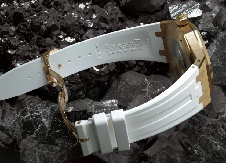 White Rubber B Strap for Audemars Piguet Royal Oak 41