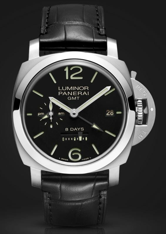 Officine Panerai Luminor 1950 8 Days GMT Acciaio - 44mm – Reference PAM00233