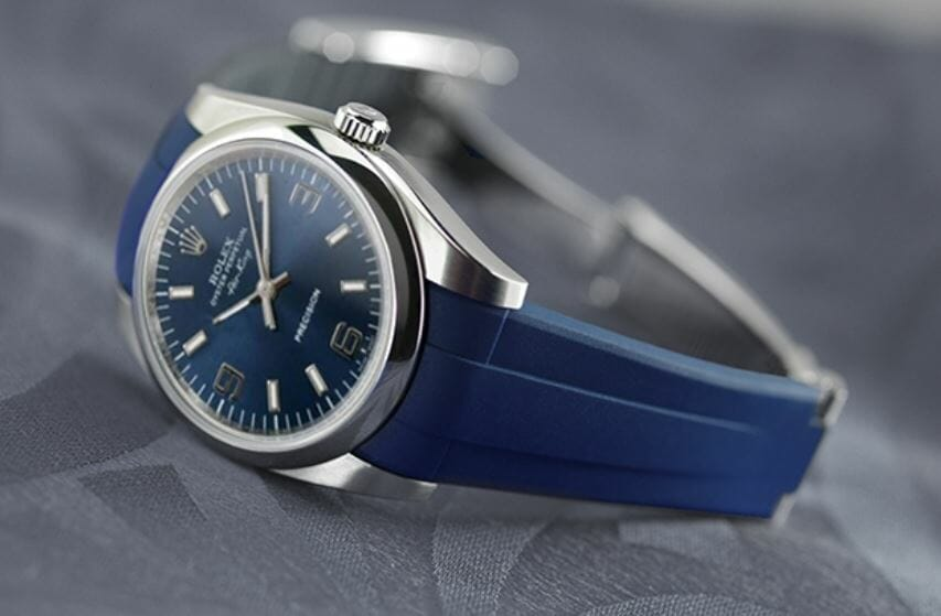 Blue Watchband for the Rolex Air King 34mm
