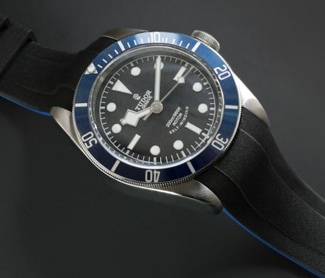 Blue Strap for Tudor Heritage Black Bay - VulChromatic® Dual-Color