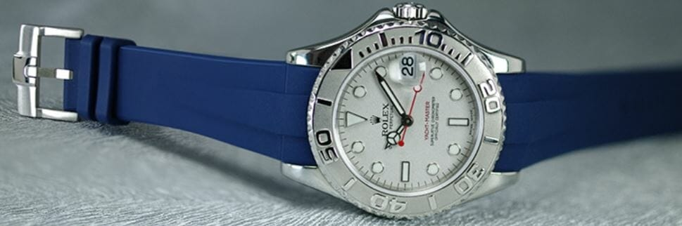lue Watch Band for Rolex Yachtmaster 35