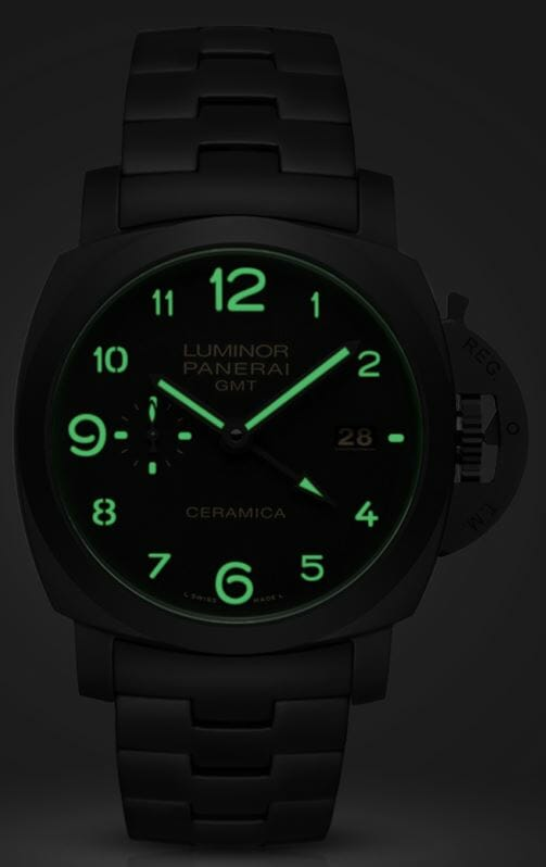 Panerai Tuttonero - Luminor 1950 3 Days GMT Automatic Ceramica - 44mm  Reference PAM00438