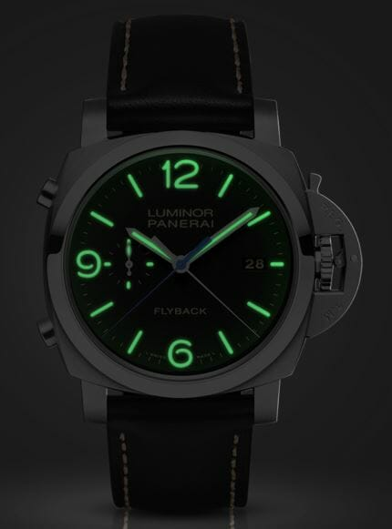 Panerai Luminor 1950 3 Days Chrono Flyback Automatic Acciaio - 44mm reference PAM00524 Night