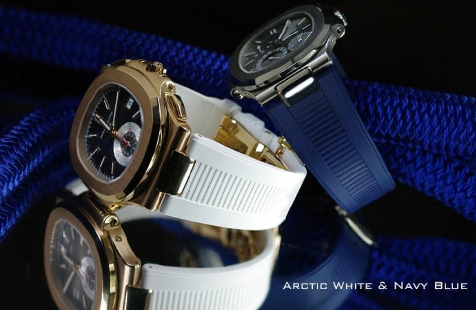 Patek Philippe Arctic White and Navy Blue
