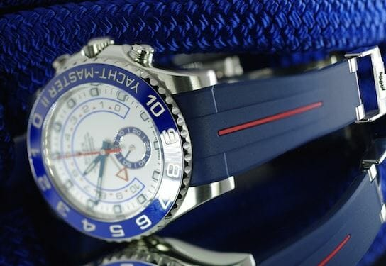 Vulchromatic Rubber B Bracelet supports Rolex Clasp on Rolex Yachtmaster II