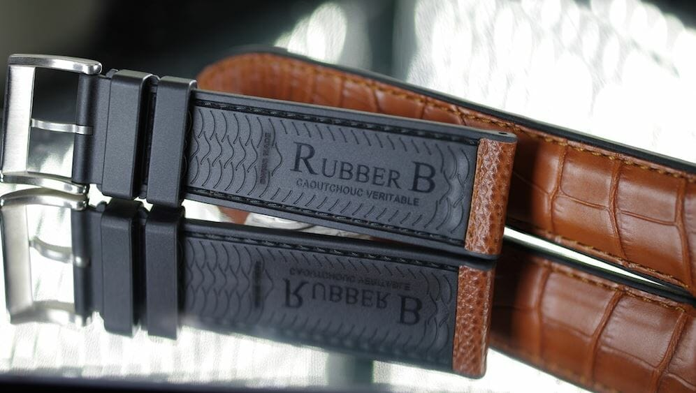 Rubber B Brown Bracelets for the Jaeger-LeCoultre Polaris Chronograph Reference 9022450