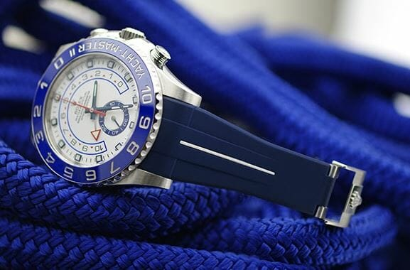 Vulcanized Rubber Band on Rolex Yachtmaster II