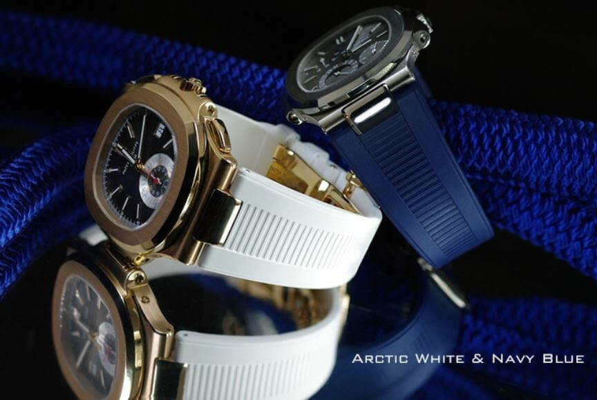 Patek Philippe 5980R With Blue and White Rubber B Straps