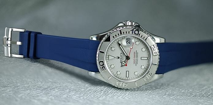 Blue Band for the Rolex Yachtmaster 35mm - Reference 168622