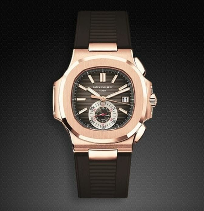 Chocolate Brown Bracelet Patek Philippe 5980 in Rose Gold
