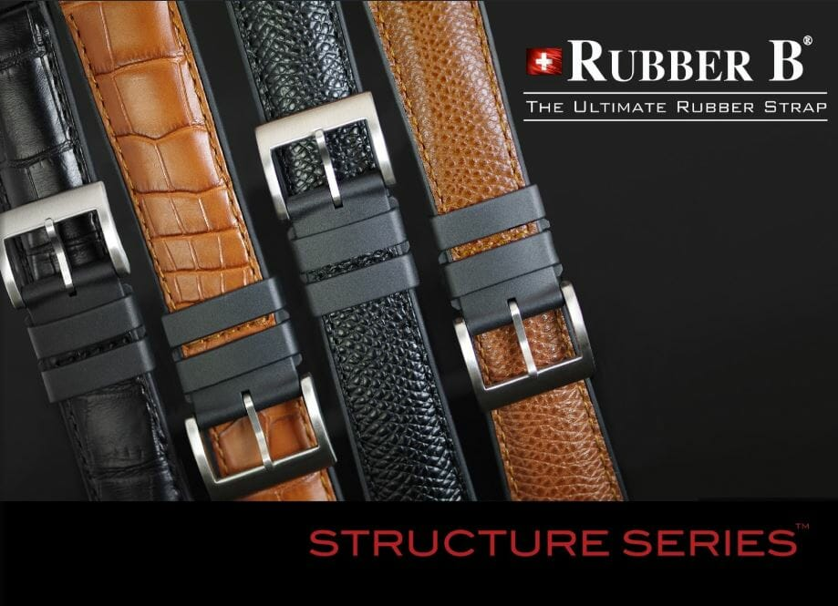 Rubber B Structure Series - Designer Watch Bands for nearly Any Timepiece