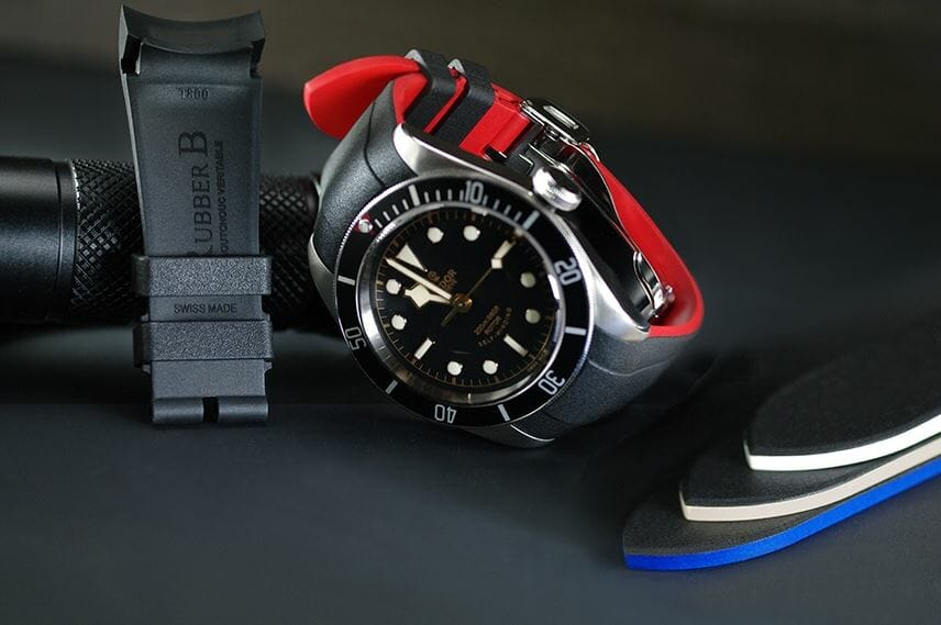 Tudor Heritage Black Bay with Rubber B Bracelet for the M79230B-0008