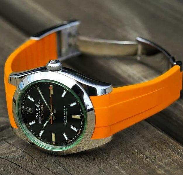 Rolex Milgauss with Orange Strap