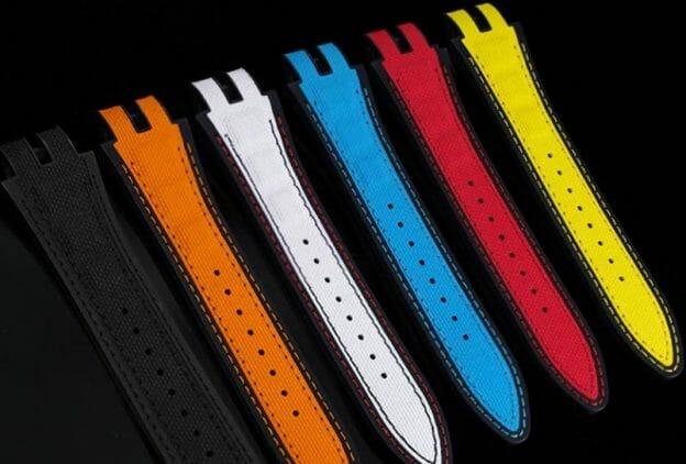 Roger Dubuis straps for Skeleton flying tourbillon