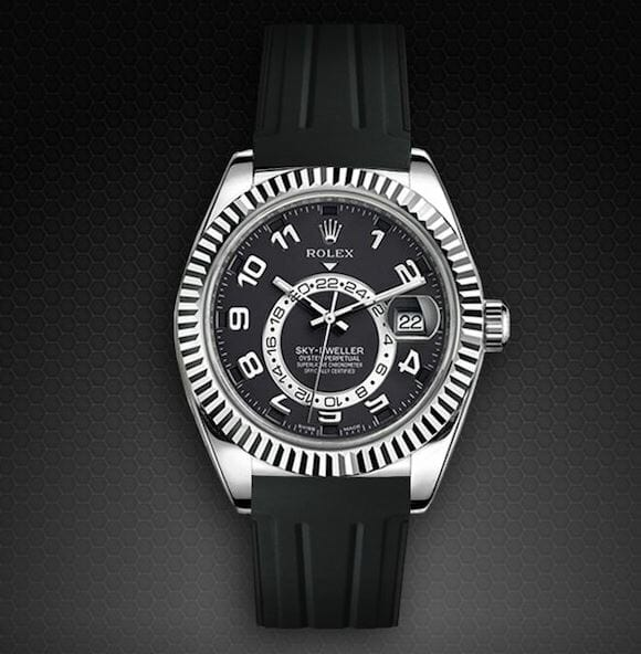 Black band for the Rolex Sky-Dweller