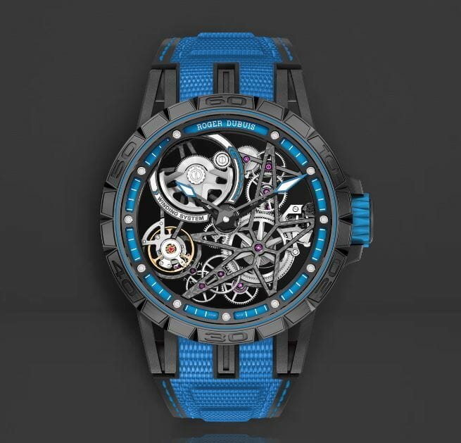 Designer Blue bands for the Roger Dubuis RDDBEX0575