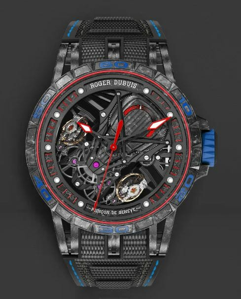 Roger Dubuis RDDBEX0686 with Blue Stitiching