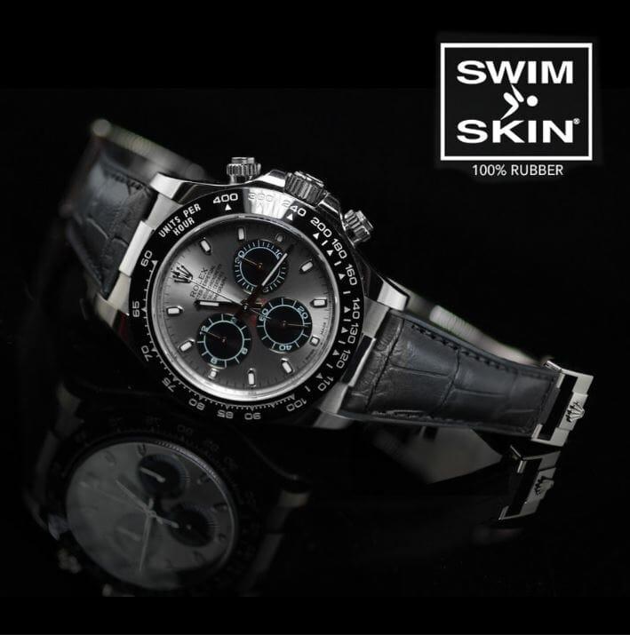 Rolex Daytona with Black SwimSkin Rubber Bracelet
