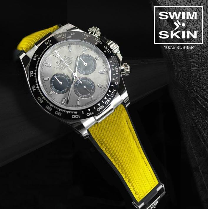 Rolex Daytona with Yellow Swimskin Rubber Bracelet