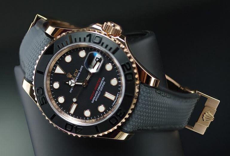 Yachtmaster 40 with Grey and Black Bracelet