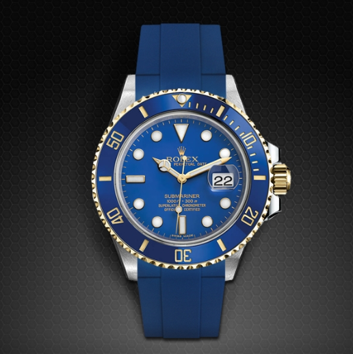 Rolex Submariner with Blue Bezel and Blue Dial