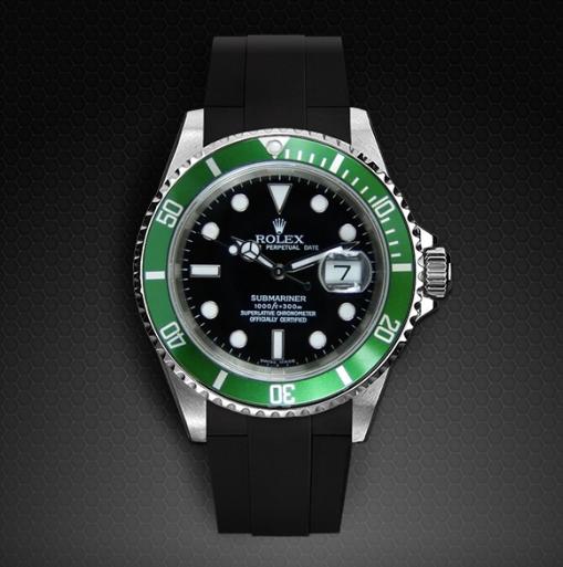"""Rolex Submariner with Green """"Hulk"""" bezel"""