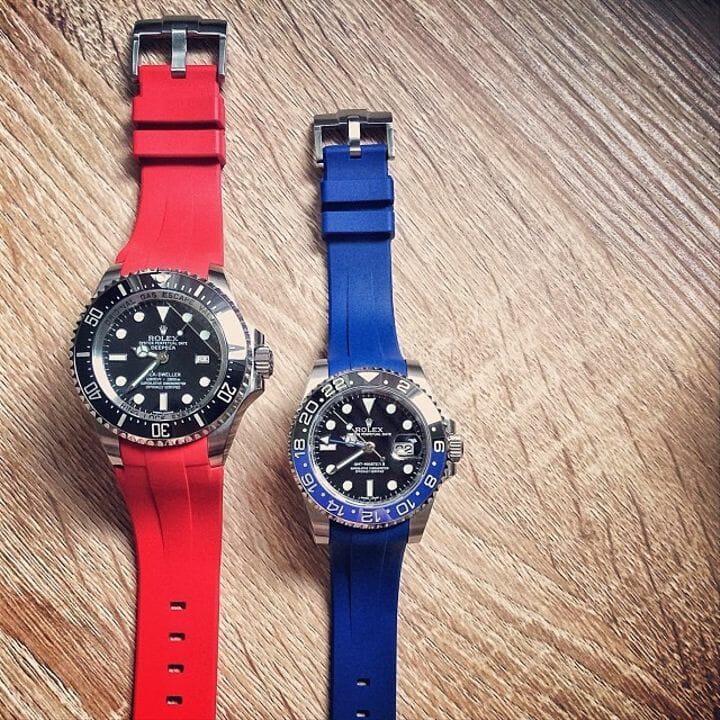 Straps For GMT Master II Pepsi Jubilee By Rubber B
