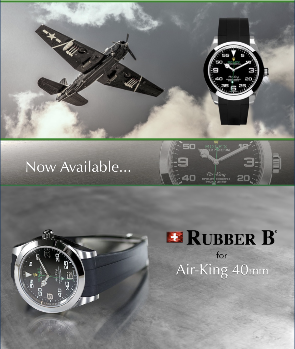 Rolex Air King T By Rubber B