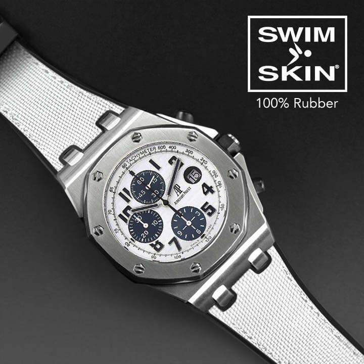 White Rubber Watch Strap For Royal Oak