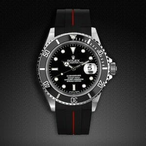 Black and Red Strap for Rolex Submariner