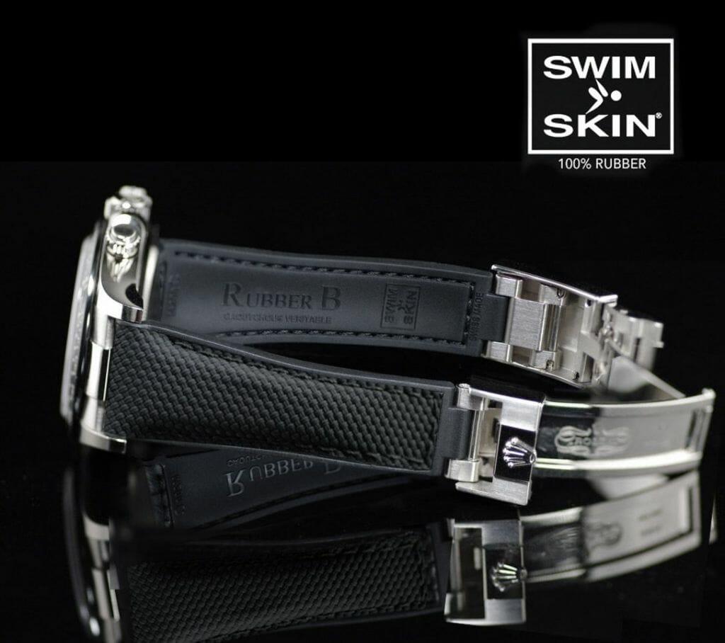 Comparing SwimSkin Alligator vs Ballistic straps for Rolex Yachtmaster