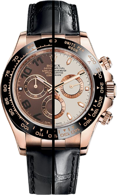 Daytona on Strap Rose Gold