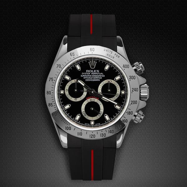 Strap for Rolex Daytona Oyster Bracelet - Classic Series VulChromatic® | Rubber B Watch Bands ...