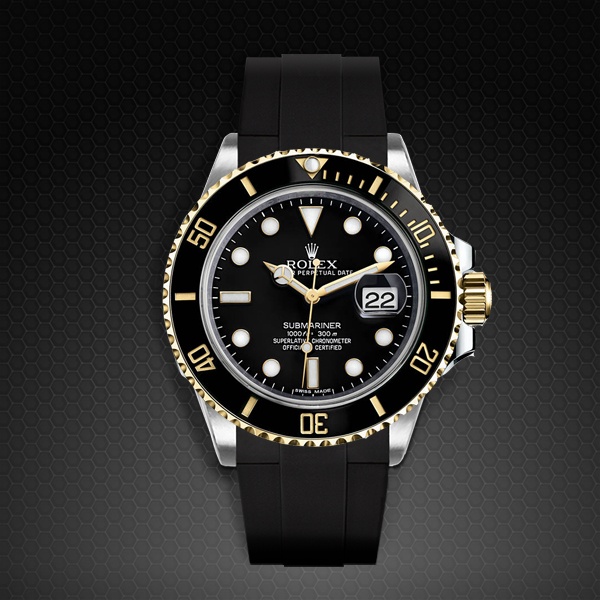 Strap For Rolex Submariner Tang Buckle Series Rubber B