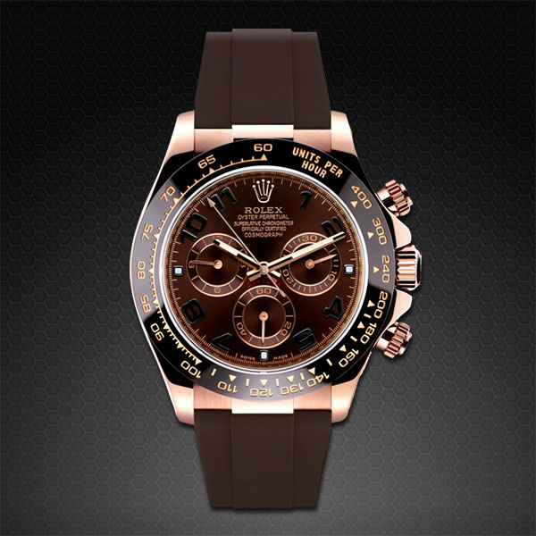 Rolex Daytona On Strap Rose Gold Classic Series Rubber