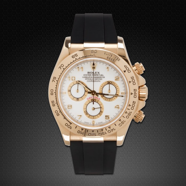 Rolex Daytona On Strap Yg Wg Classic Series Rubber B