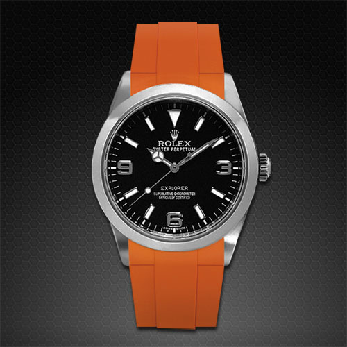 Strap For Rolex Explorer I 39mm Classic Series Rubber