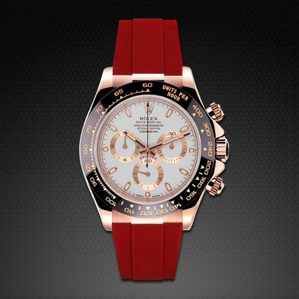 Free Shipping Sites >> Rolex Daytona on Strap Rose Gold - Classic Series   Rubber ...