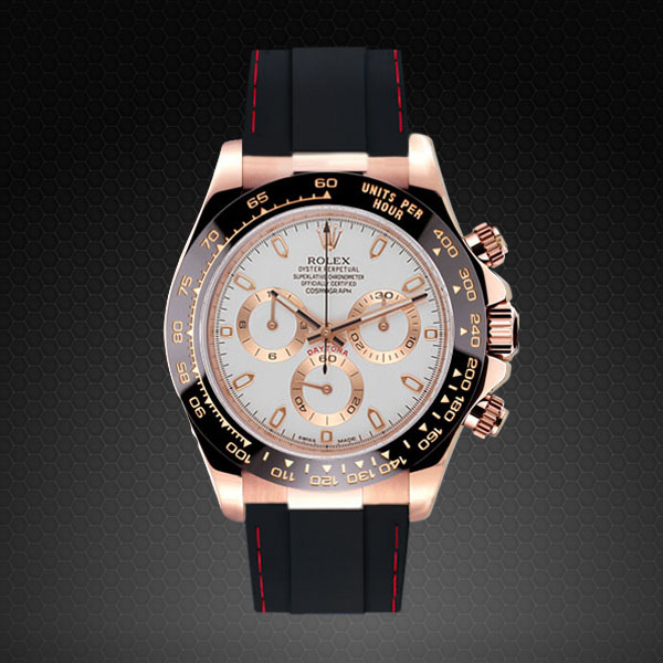 Rolex Daytona On Strap Rose Gold Couture Series Rubber