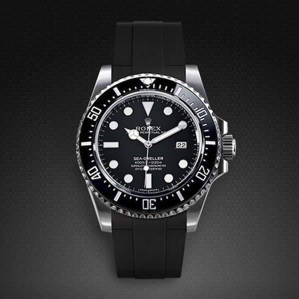 new seadweller 4000 glidelock edition rubber b watch