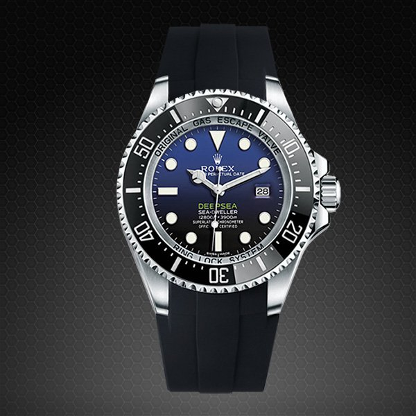 Strap For Rolex Deepsea Glidelock Edition Rubber B